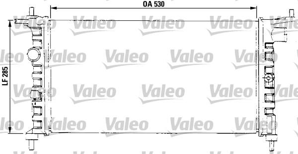Radiateur, refroidissement du moteur - VALEO - 731013
