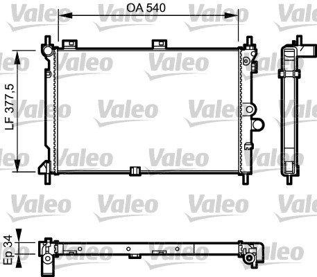 Radiateur, refroidissement du moteur - VALEO - 731022