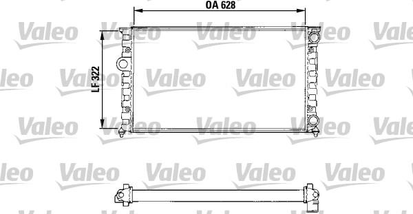 Radiateur, refroidissement du moteur - VALEO - 731025