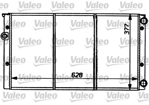 Radiateur, refroidissement du moteur - VALEO - 731032