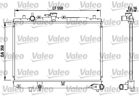 Radiateur, refroidissement du moteur - VALEO - 731036