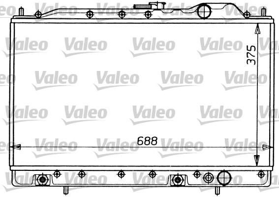Radiateur, refroidissement du moteur - VALEO - 731054