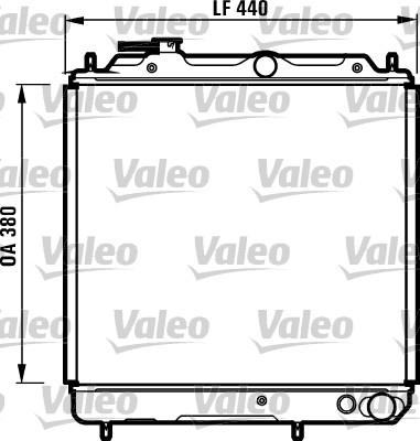 Radiateur, refroidissement du moteur - VALEO - 731056