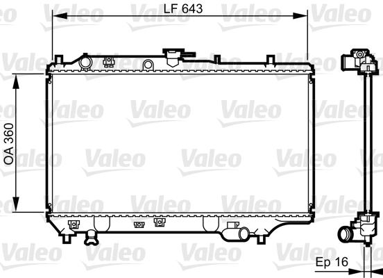 Radiateur, refroidissement du moteur - VALEO - 731072