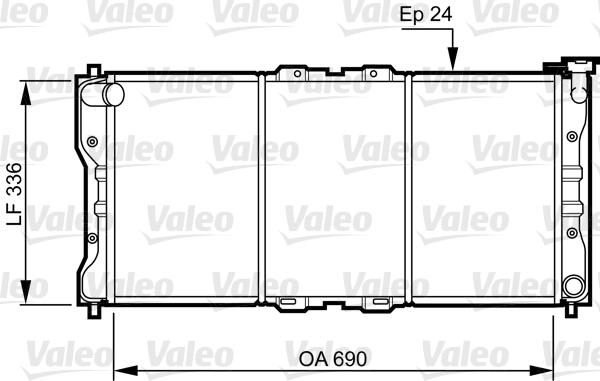 Radiateur, refroidissement du moteur - VALEO - 731073