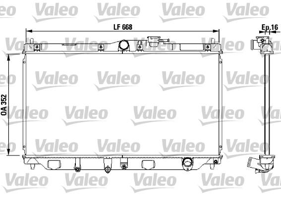 Radiateur, refroidissement du moteur - VALEO - 731076