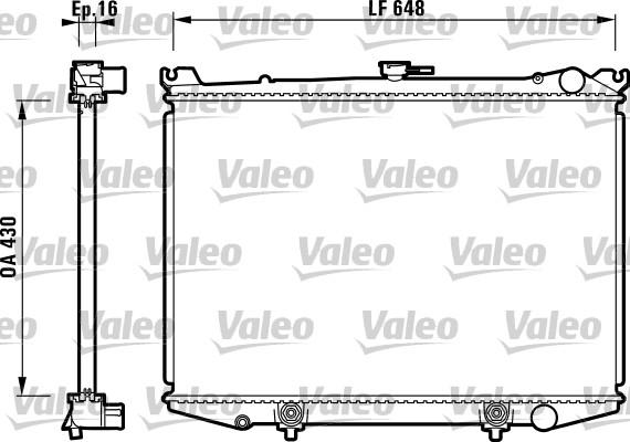 Radiateur, refroidissement du moteur - VALEO - 731085