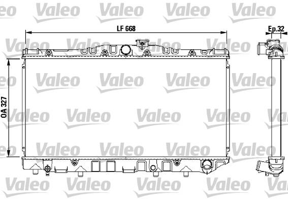 Radiateur, refroidissement du moteur - VALEO - 731095
