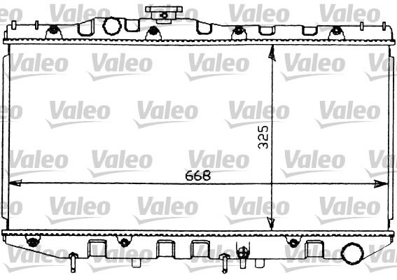 Radiateur, refroidissement du moteur - VALEO - 731097