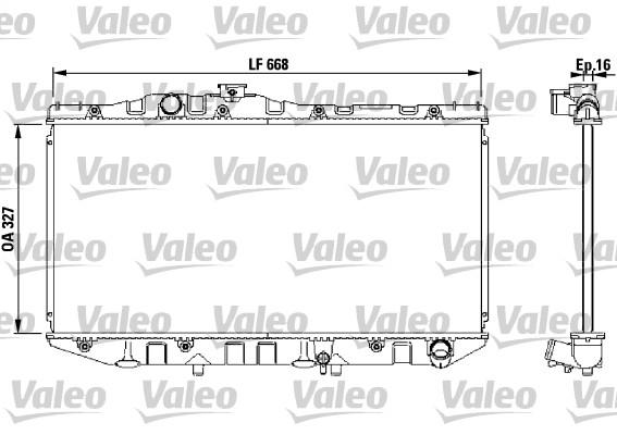 Radiateur, refroidissement du moteur - VALEO - 731098