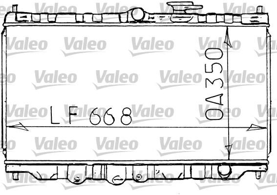 Radiateur, refroidissement du moteur - VALEO - 731100