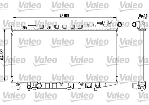 Radiateur, refroidissement du moteur - VALEO - 731106