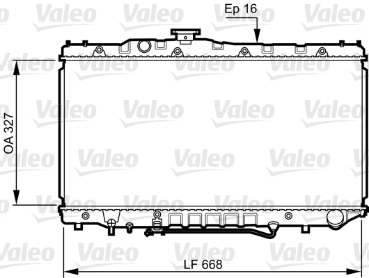 Radiateur, refroidissement du moteur - VALEO - 731110