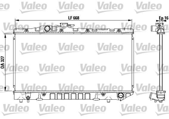 Radiateur, refroidissement du moteur - VALEO - 731115