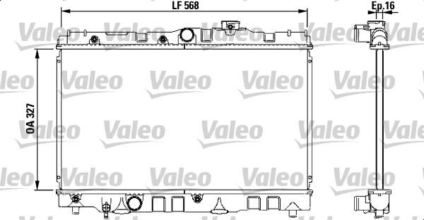 Radiateur, refroidissement du moteur - VALEO - 731119