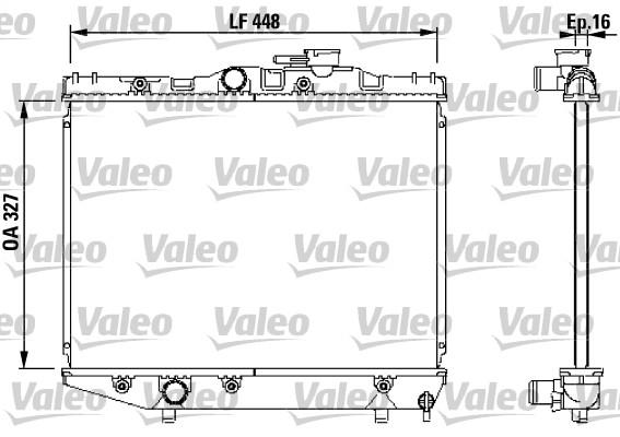 Radiateur, refroidissement du moteur - VALEO - 731124