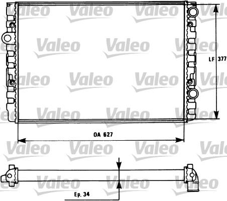 Radiateur, refroidissement du moteur - VALEO - 731127