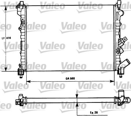 Radiateur, refroidissement du moteur - VALEO - 731128