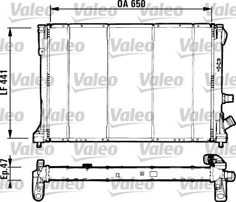 Radiateur, refroidissement du moteur - VALEO - 731129