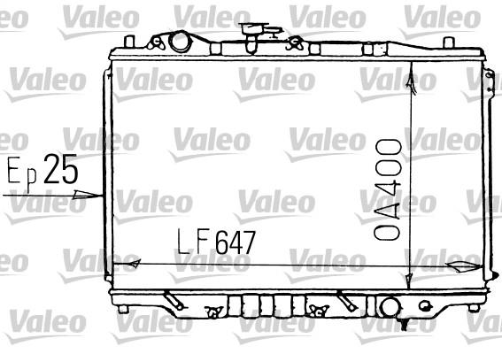 Radiateur, refroidissement du moteur - VALEO - 731139
