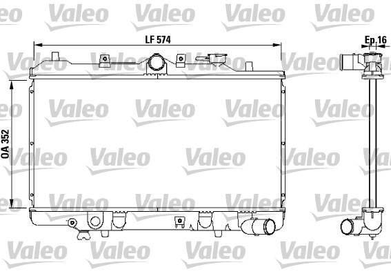 Radiateur, refroidissement du moteur - VALEO - 731142