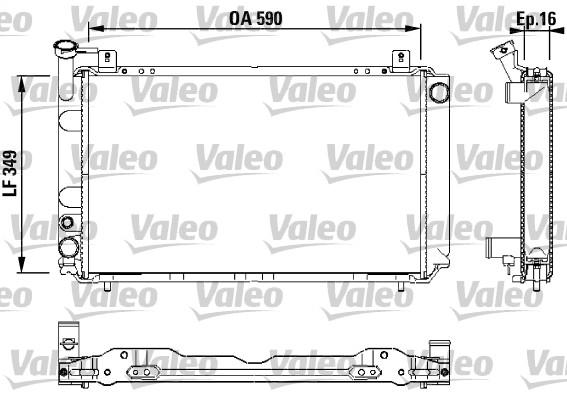 Radiateur, refroidissement du moteur - VALEO - 731147
