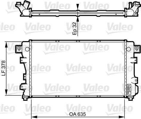 Radiateur, refroidissement du moteur - VALEO - 731148