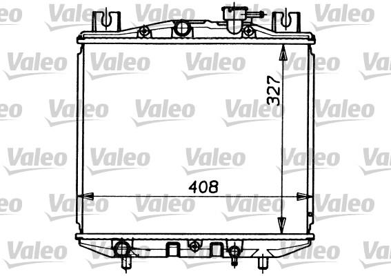 Radiateur, refroidissement du moteur - VALEO - 731153