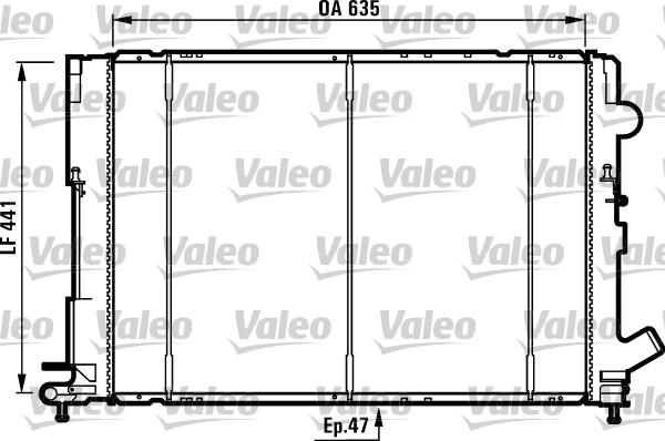 Radiateur, refroidissement du moteur - VALEO - 731161
