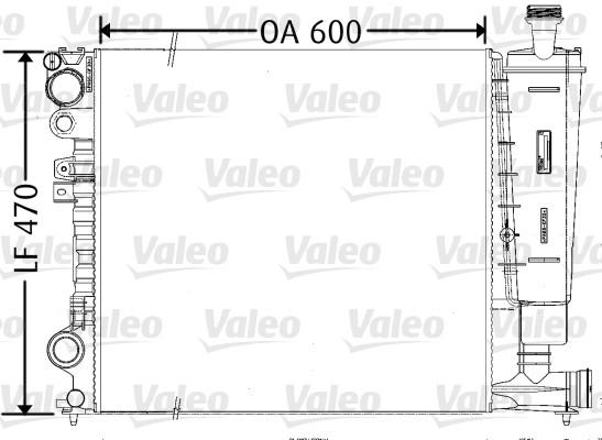 Radiateur, refroidissement du moteur - VALEO - 731165