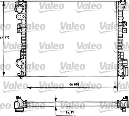 Radiateur, refroidissement du moteur - VALEO - 731166