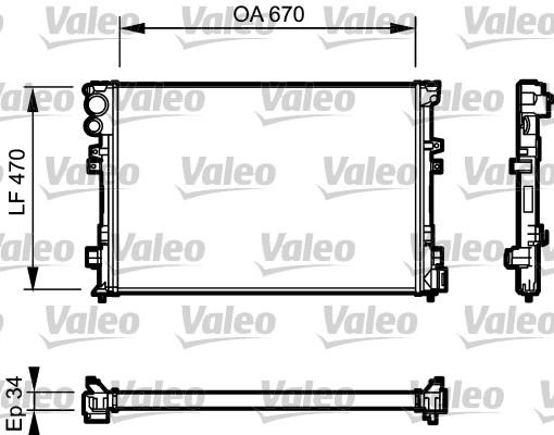 Radiateur, refroidissement du moteur - VALEO - 731168