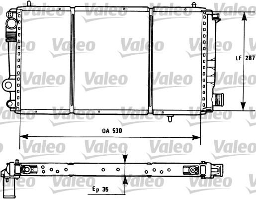 Radiateur, refroidissement du moteur - VALEO - 731173