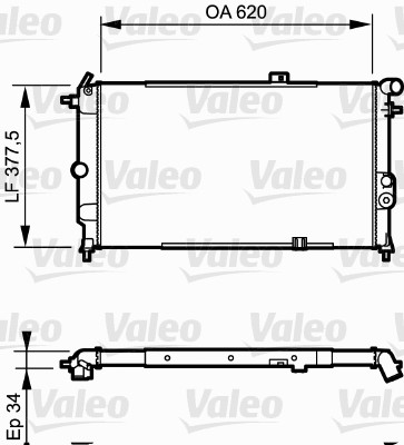 Radiateur, refroidissement du moteur - VALEO - 731174
