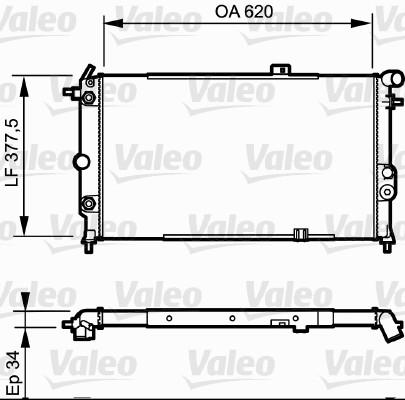 Radiateur, refroidissement du moteur - VALEO - 731175