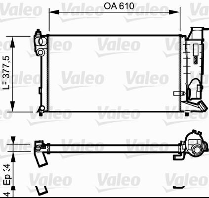 Radiateur, refroidissement du moteur - VALEO - 731176