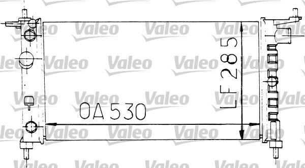 Radiateur, refroidissement du moteur - VALEO - 731178