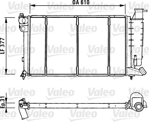 Radiateur, refroidissement du moteur - VALEO - 731181