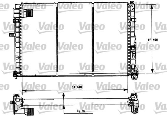 Radiateur, refroidissement du moteur - VALEO - 731185