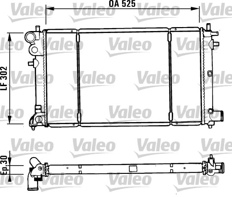 Radiateur, refroidissement du moteur - VALEO - 731186