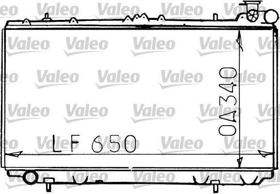 Radiateur, refroidissement du moteur - VALEO - 731193