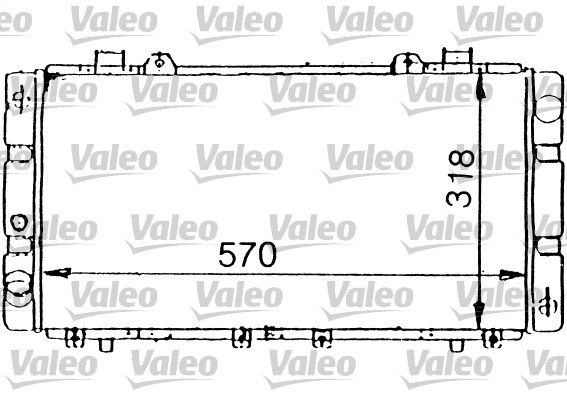 Radiateur, refroidissement du moteur - VALEO - 731199