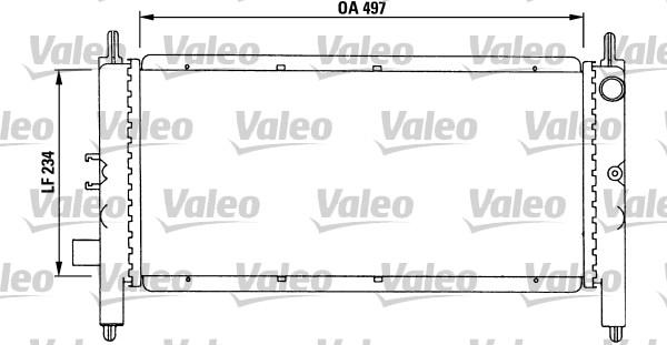 Radiateur, refroidissement du moteur - VALEO - 731215