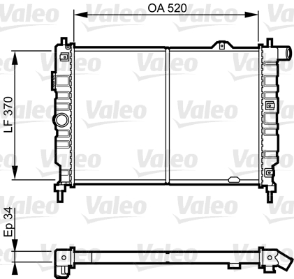 Radiateur, refroidissement du moteur - VALEO - 731217