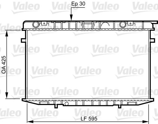 Radiateur, refroidissement du moteur - VALEO - 731236