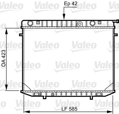 Radiateur, refroidissement du moteur - VALEO - 731237