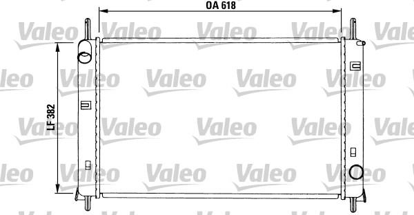 Radiateur, refroidissement du moteur - VALEO - 731257