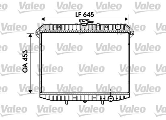 Radiateur, refroidissement du moteur - VALEO - 731261