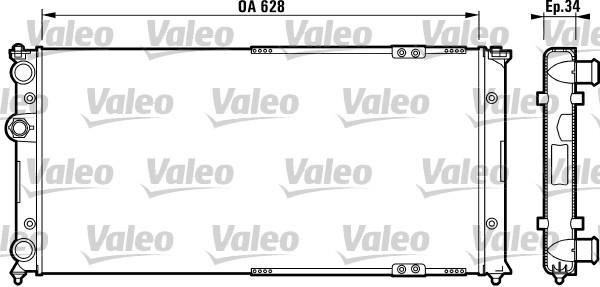Radiateur, refroidissement du moteur - VALEO - 731264