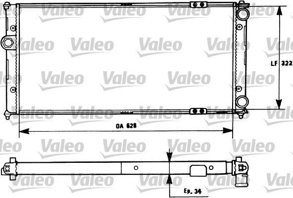 Radiateur, refroidissement du moteur - VALEO - 731266